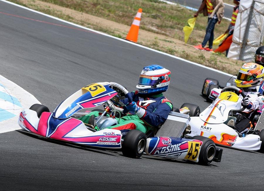 Miguel Quiñones fights to a podium finish at IAME X30 Ph season opener