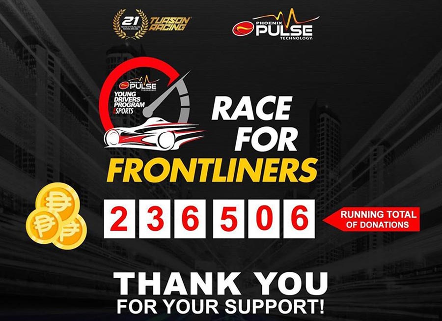Funds raised by 'Race for Frontliners' online sim competition now over ₱200,000