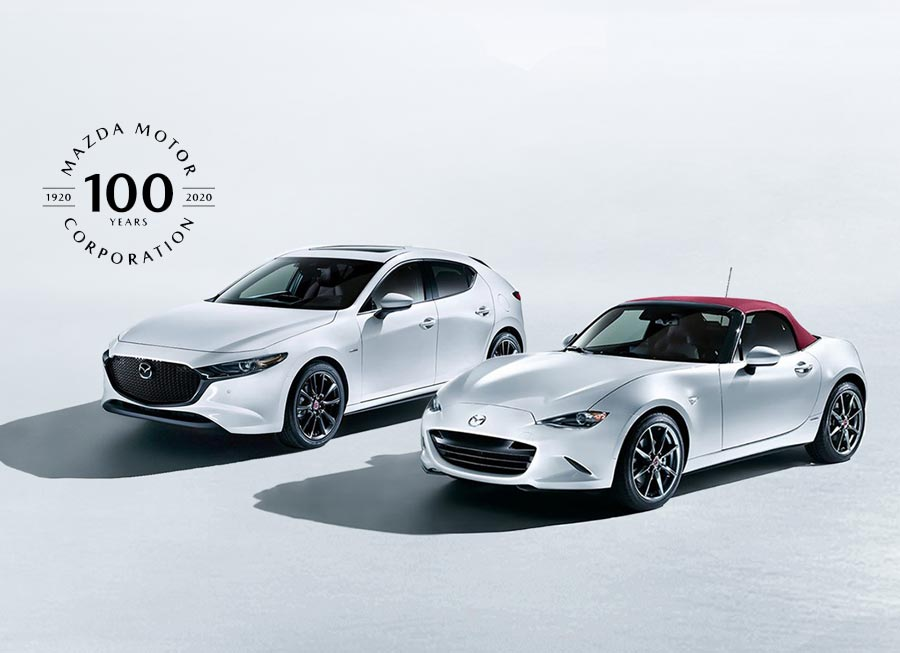 100th Anniversary Ed. of Mazda 3 and MX-5 limited to just 29 units for Ph