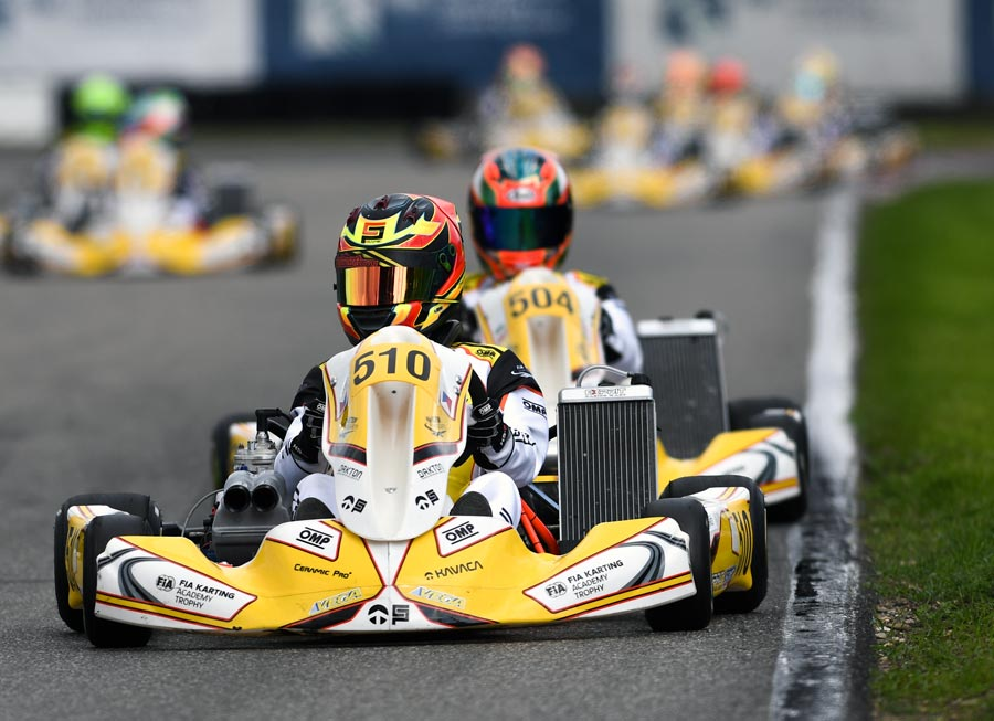 Zach David impresses with top 6 finish at FIA Karting Academy in Genk