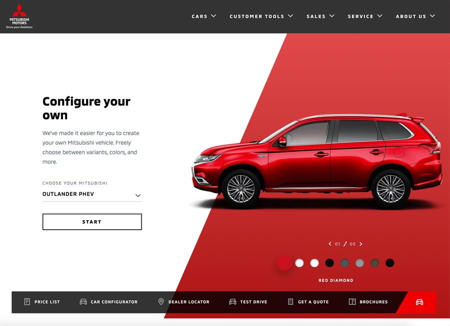 Mitsubishi 'finally' gets a brand-new website in the Philippines