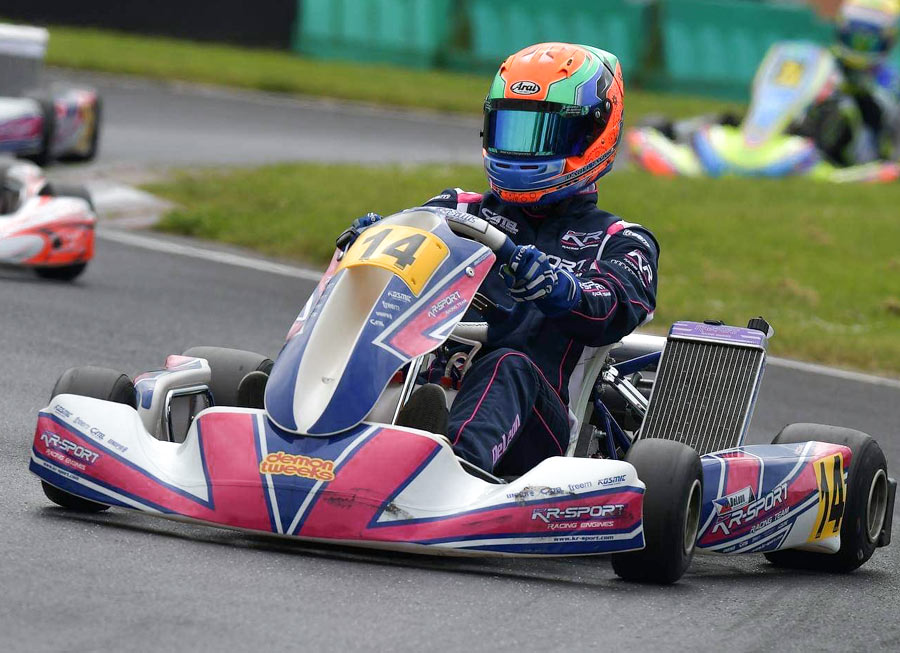Daryl De Leon Taylor shines in the wet to win at Trent Valley Kart Club outing
